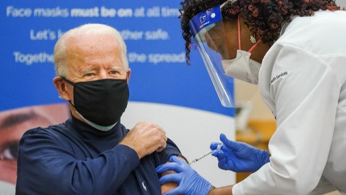 US President-elect Joe Biden publicly receives first Covid vaccine shot -  World News