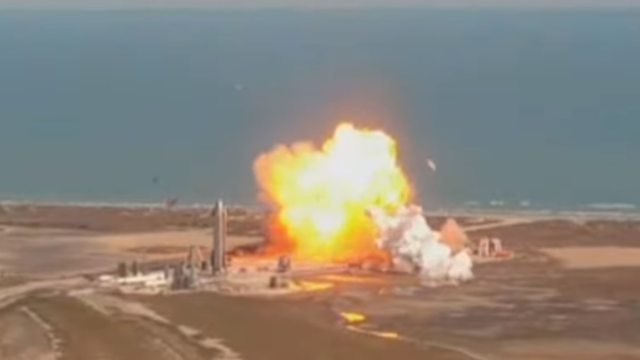 SpaceX Starship prototype explodes upon landing on Tuesday