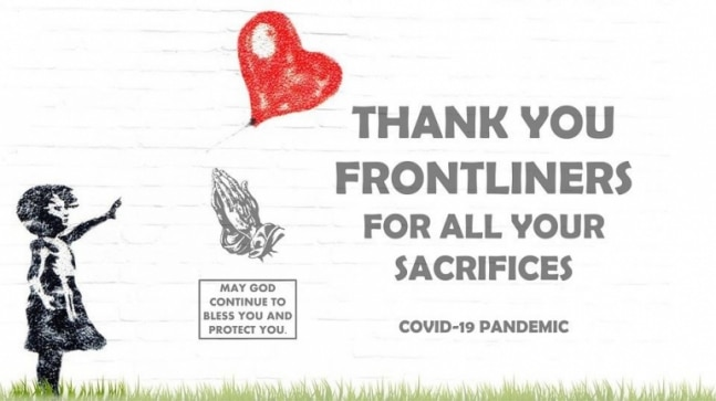 Thank You Coronavirus Helpers: Images, messages for our Frontline Healthcare Workers