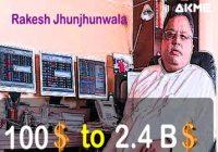 How Rakesh Jhunjhunwala Turns 100 USD To 2.4 Billion USD