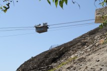 The 'cableway' to deliver food, water... and people