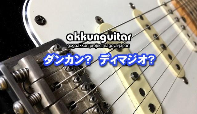 ギターのピックアップ、ダンカンとディマジオどっちが良いの?【初級ギター講座/エレキ編】