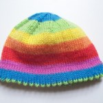 Picot-Hem Preemie Hat. #knitting #preemies #hats