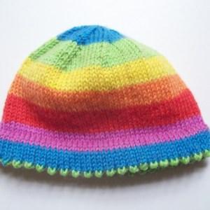 Picot-Hem Preemie Hat. #knitting #preemies #hats