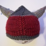 Viking Preemie Hat. #knitting #preemies #vikings
