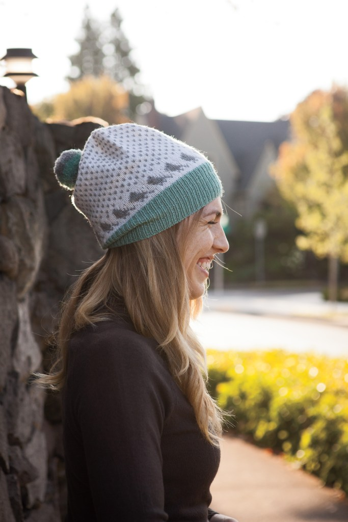 Aves Hat pattern by Amanda Schwabe, part of the Charmed Fall Accesories collection from Knit Picks. #knitting #aknitica