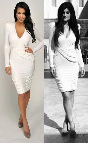 Kylie Jenner Wears Big Sister Kim Kardashian's Sexy White ...