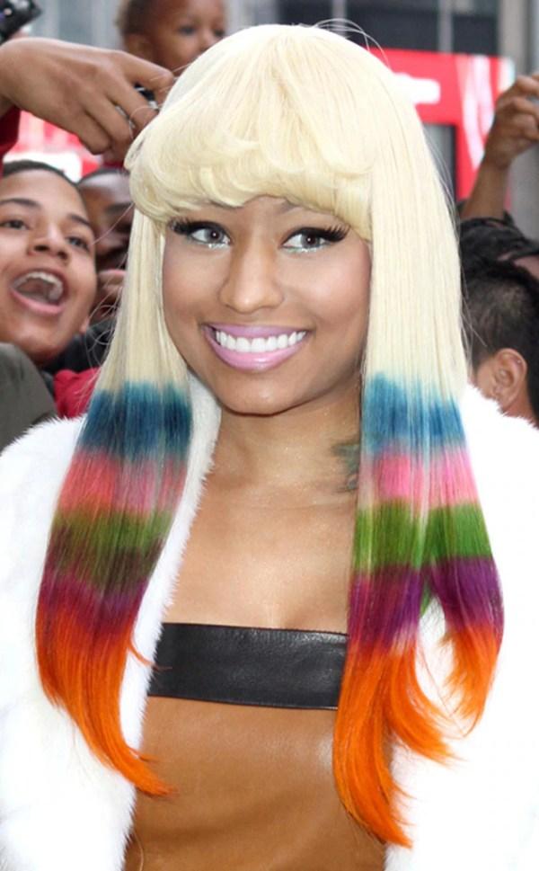 5. Rainbow Bright from Nicki Minaj's Top 10 Hair Moments ...