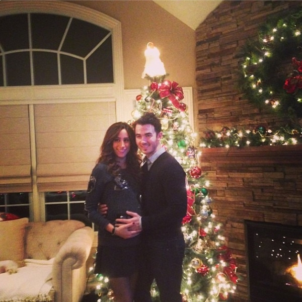 Kevin And Dani Jonas From Celebs Celebrate Christmas In