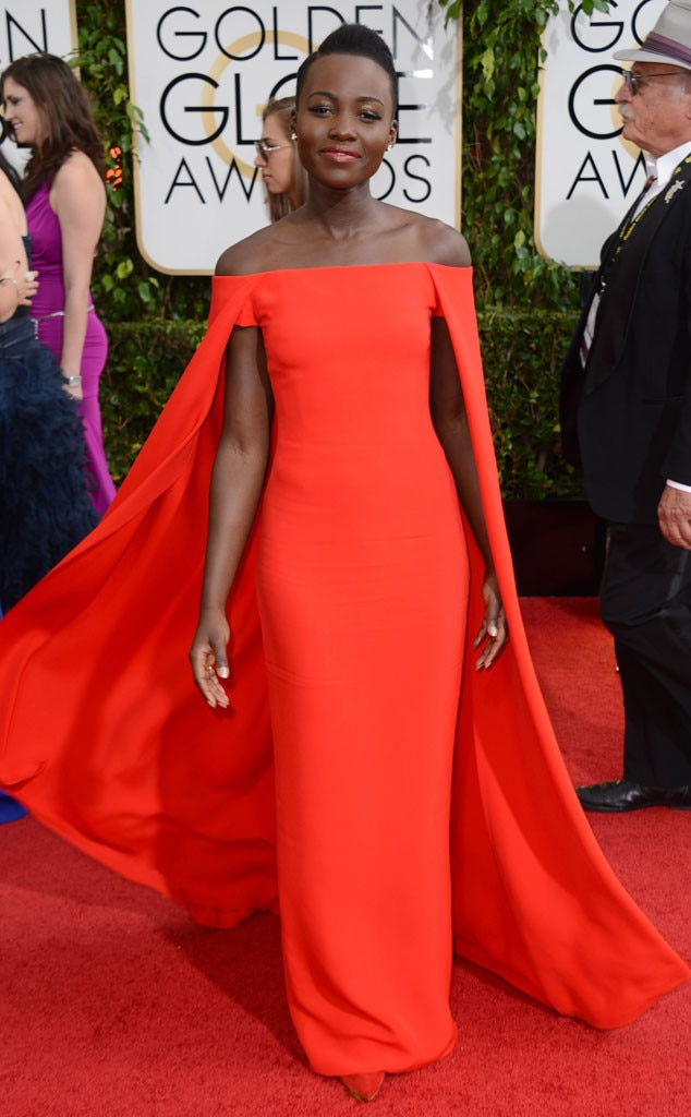Image result for LUPITA nyong'o golden globes 2014