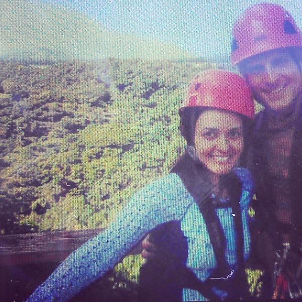 Newlywed Danica McKellar Goes Zip Lining And Hiking On