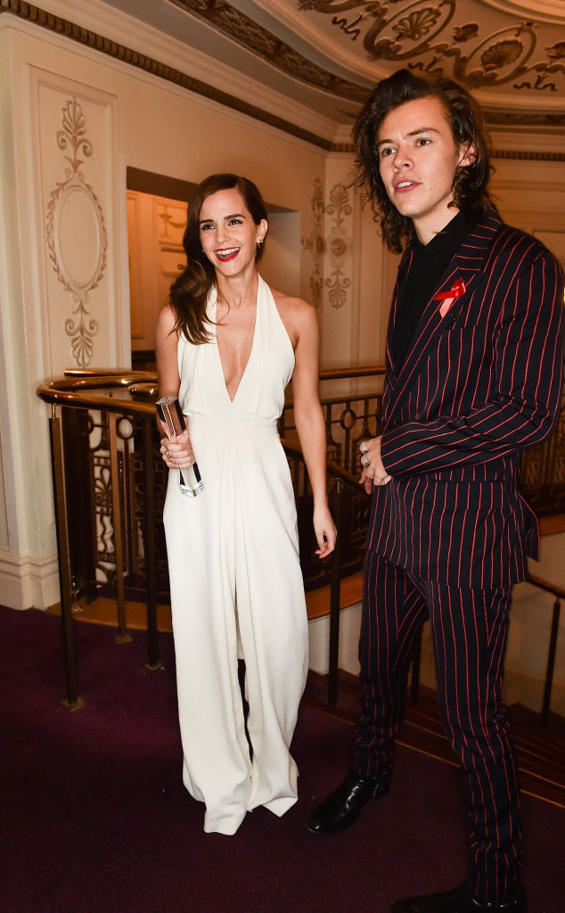 Harry Styles Presented Emma Watson With A British Fashion Award And Twitter Is Now Dying For