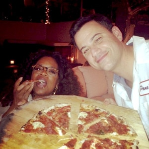Jimmy Kimmel Makes Pizza Dinner For Oprah WinfreySee The