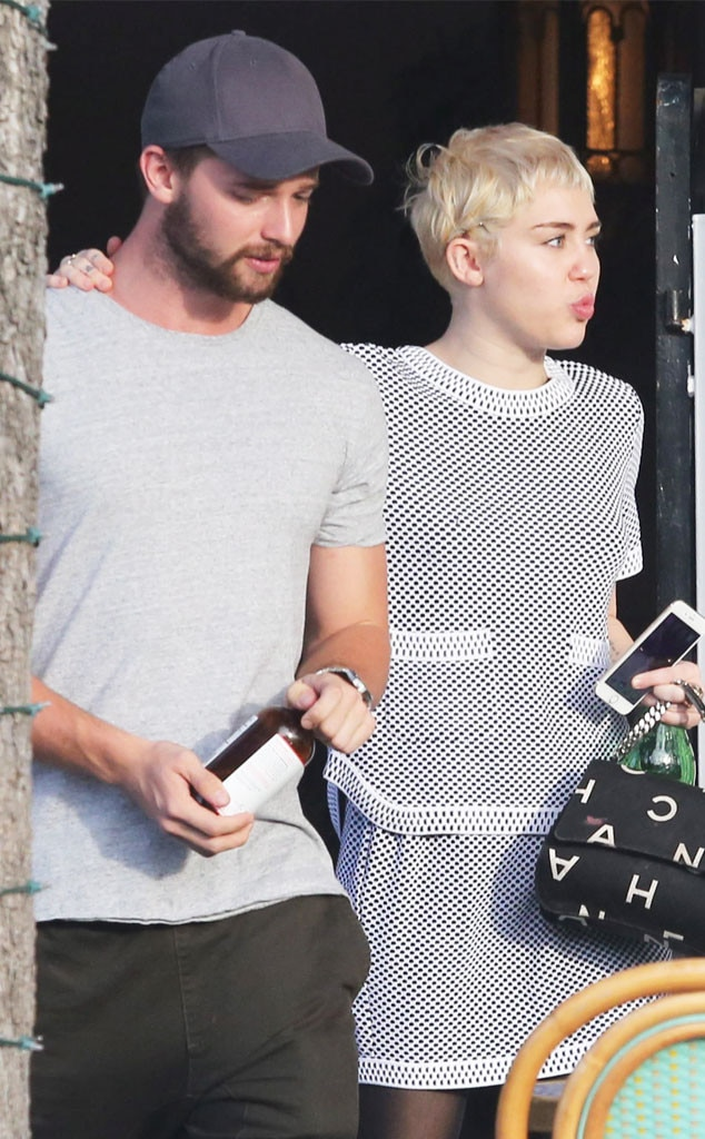 Miley Cyrus and Patrick Schwarzenegger Cozy up on Lunch ...