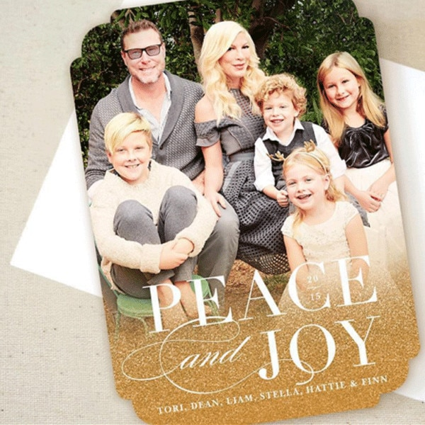 Tori Spelling From Celebrity Christmas Cards E News