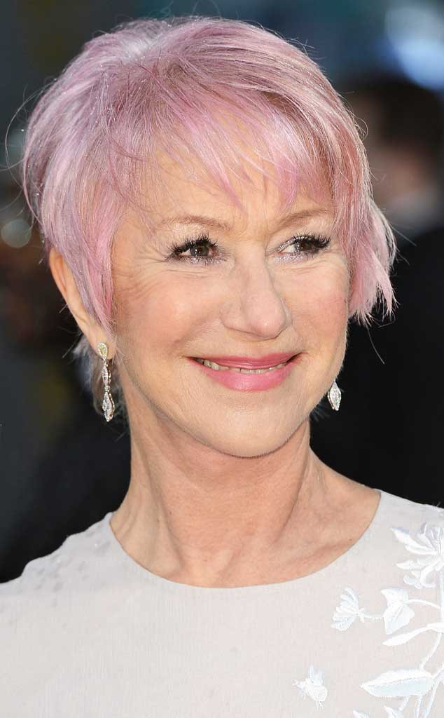 Helen Mirren From Stars With Pink Hair E News