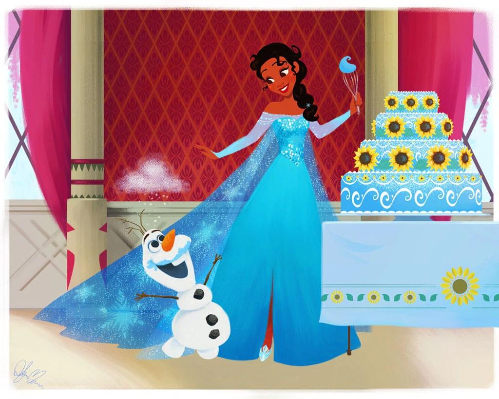 Tiana As Elsa From Disney Princesses Swap Wardrobes