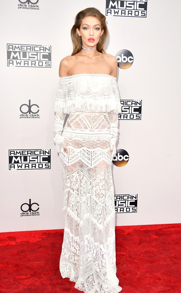 Gigi Hadid, AMAs, 2016 American Music Awards, Arrivals