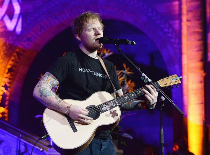 Ed Sheeran, East Anglia's Children's Hospices (EACH) gala dinner, London