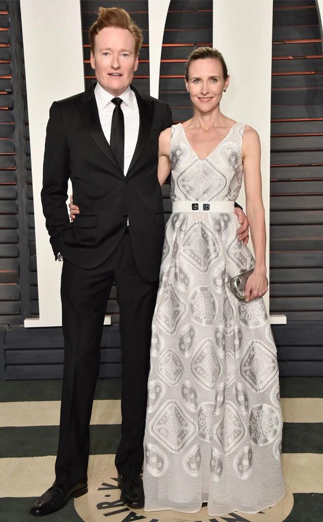 Conan O'Brien, Liza Powel, Vanity Fair Oscars Party
