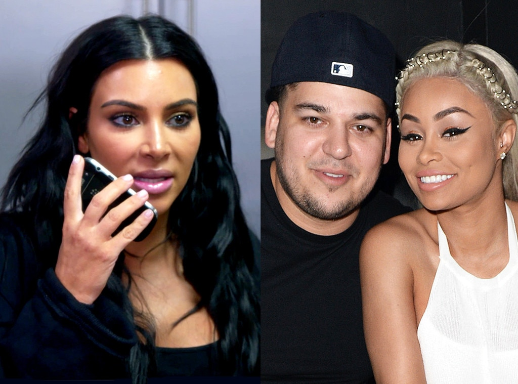 Image result for rob kardashian blac chyna and kim kardashian