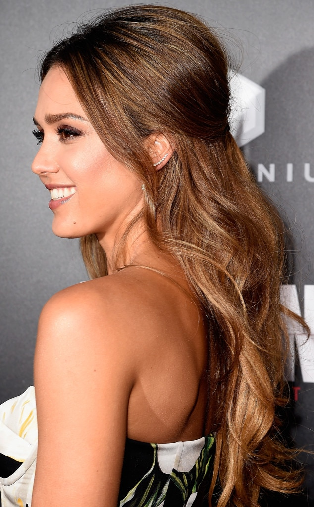 How To Get Jessica Albas Romantic HairIts Honestly So