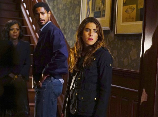 Viola Davis, Alfred Enoch & Karla Souza in het 3de seizoen van How to Get Away with Murder