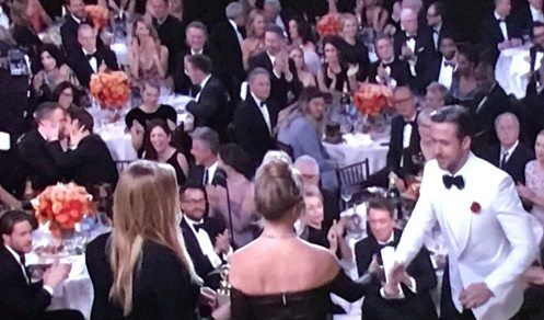 Image result for ryan reynolds andrew garfield kiss golden globes gif
