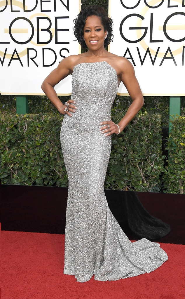 2017 Golden Globes Red Carpet Arrivals Regina King, 2017 Golden Globes, Arrivals