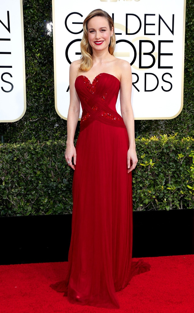 2017 Golden Globes Red Carpet Arrivals Brie Larson, 2017 Golden Globes, Arrivals