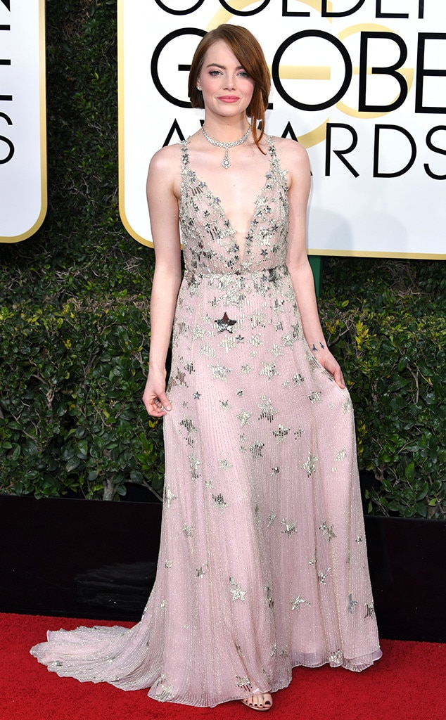 2017 Golden Globes Red Carpet Arrivals Emma Stone, 2017 Golden Globes, Arrivals