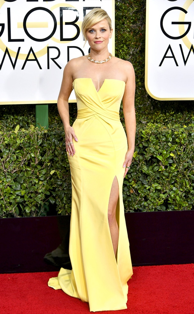 Image result for reese witherspoon golden globes 2017