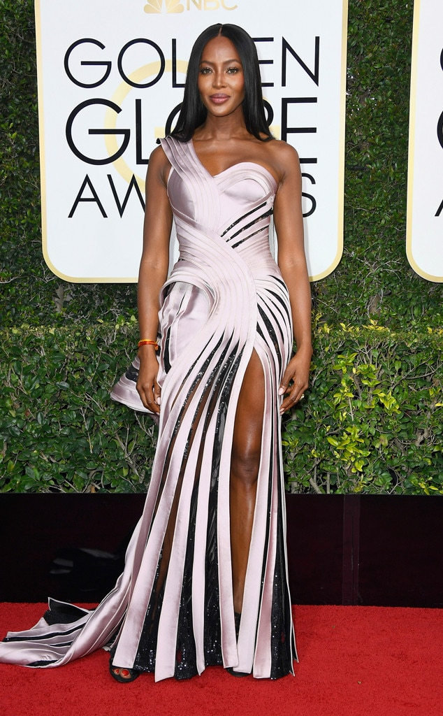 2017 Golden Globes Red Carpet Arrivals Naomi Campbell, 2017 Golden Globes, Arrivals