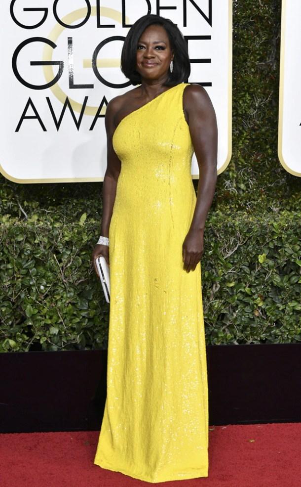 Resultado de imagem para Viola Davis no golden globe 2017