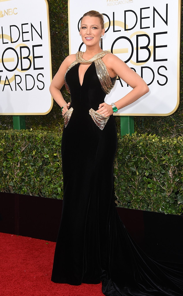 Blake Lively, 2017 Golden Globes, Arrivals
