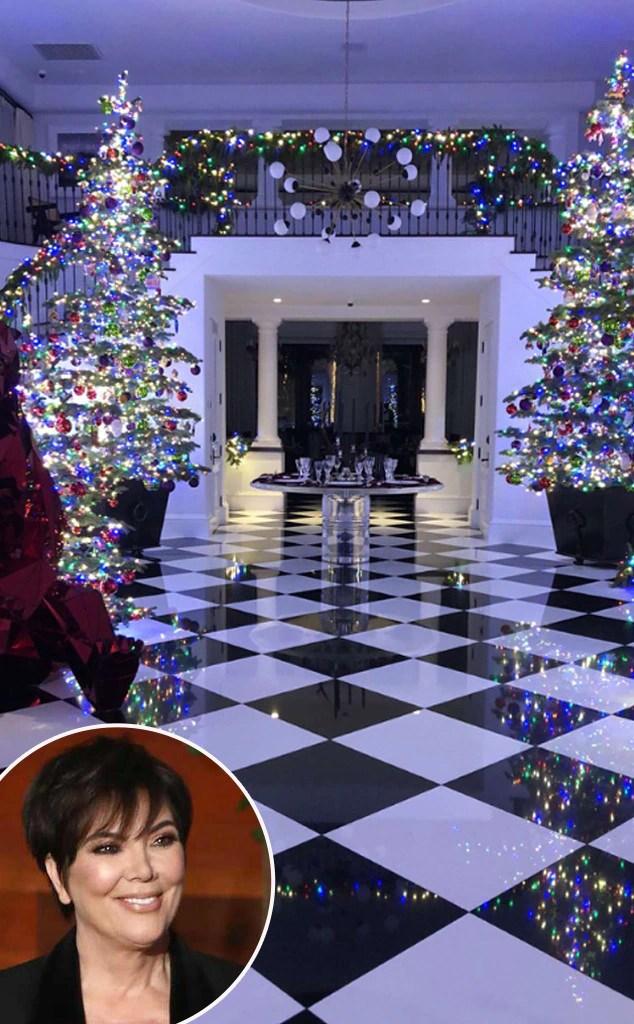 Kris Jenners 2017 Christmas Decorations Are Rainbow