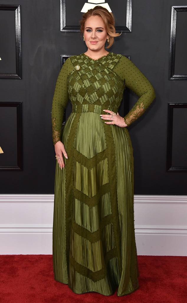 Grammys 2017 Red Carpet Arrivals Adele, 2017 Grammys, Arrivals