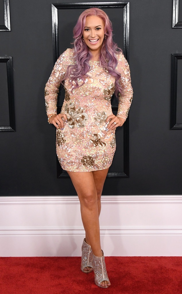 Grammys 2017 Red Carpet Arrivals Kaya Jones, 2017 Grammys, Arrivals
