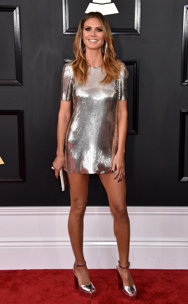Heidi Klum 2017 Grammy's Red Carpet Fashion, Best and Worst Dressed, on Fashion, Beauty, and Lifestyle Blog UwanaWhat.com