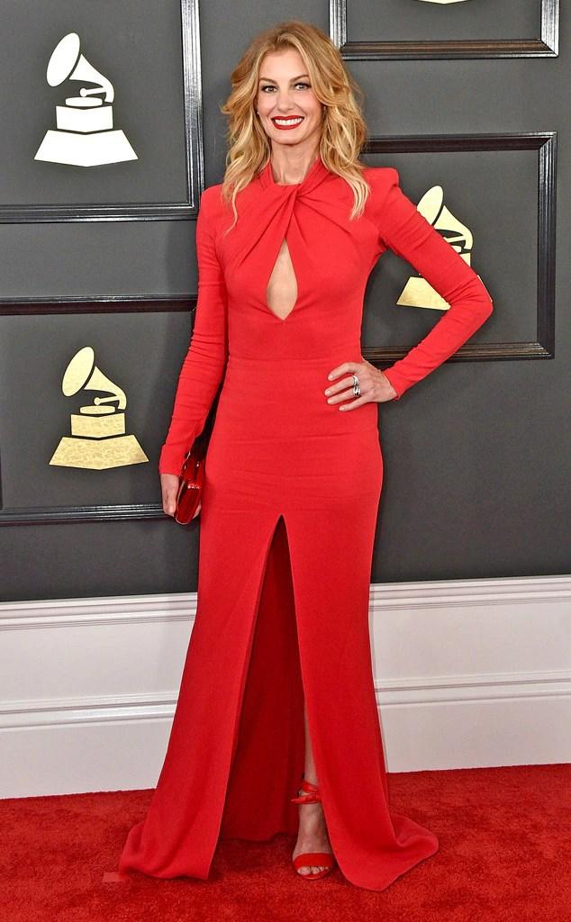 Grammys 2017 Red Carpet Arrivals Faith Hill, 2017 Grammys, Arrivals