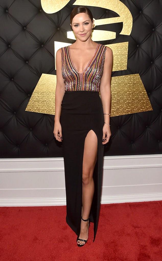 Grammys 2017 Red Carpet Arrivals Katharine McPhee, 2017 Grammys, Arrivals