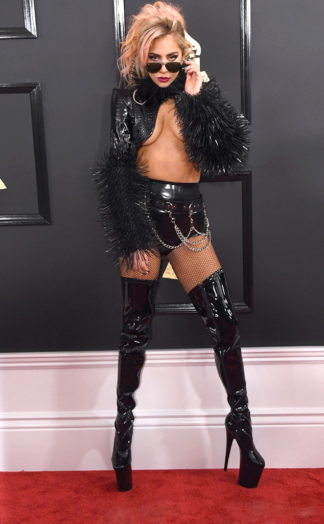 Lady Gaga 2017 Grammy's Red Carpet Fashion, Best and Worst Dressed, on Fashion, Beauty, and Lifestyle Blog UwanaWhat.com