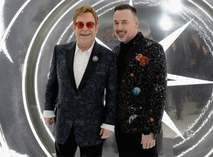 Elton John, David Furnish, 2017 Oscars Photos, Elton John Party