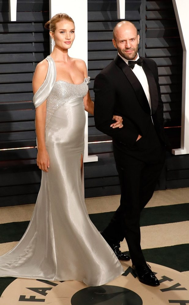 Rosie Huntington-Whiteley, Jason Statham, 2017 Oscars, Vanity Fair After Party