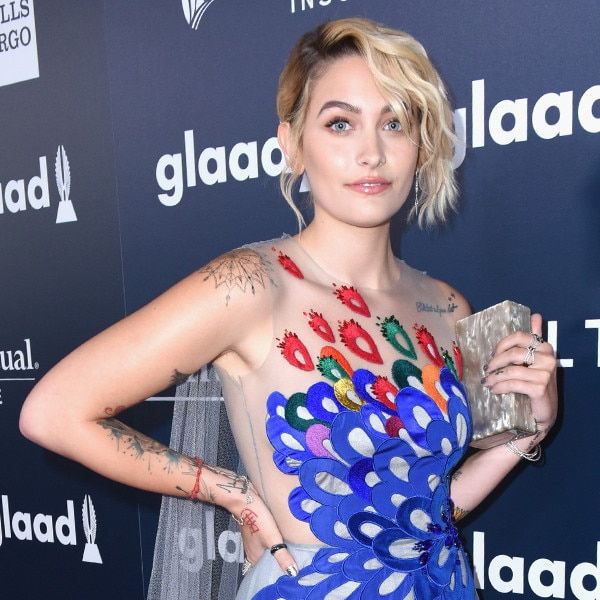 Paris Jackson Stuns in Colorful Bird of Happiness Dress at 2017 GLAAD Media Awards