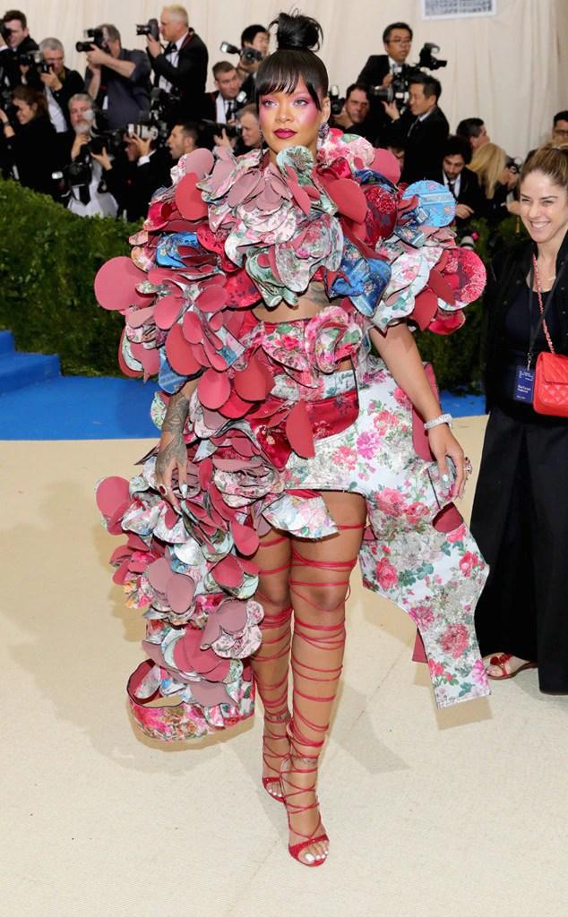 Rihanna 2017 met ball, 2017 met gala, metball, metgala, red carpet, best and worst dressed