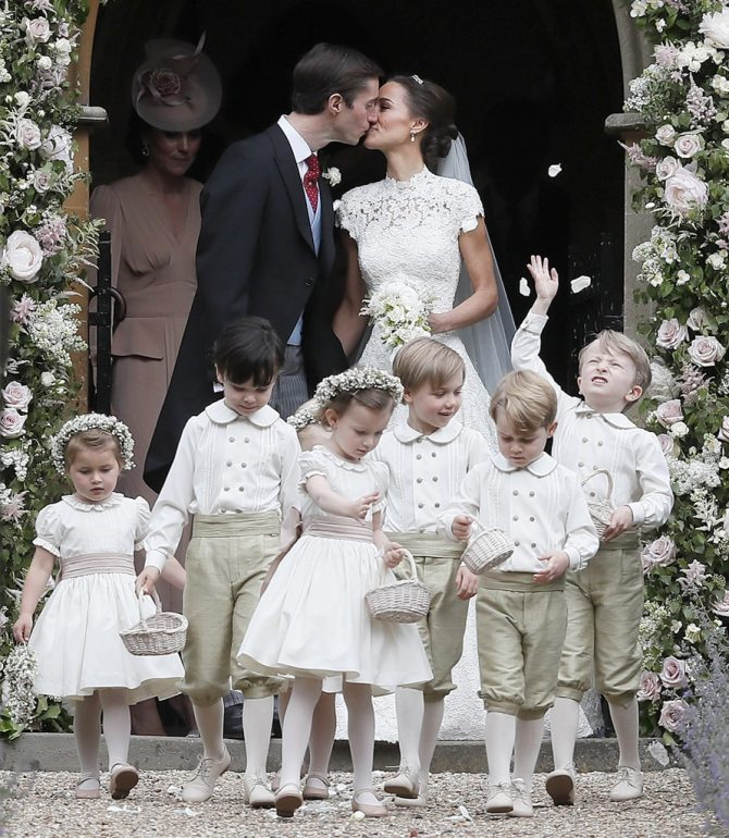 Kate Middleton, Princess Charlotte, Prince George, Pippa Middleton and James Matthews Wedding