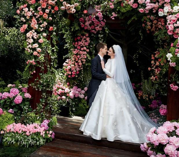 Miranda Kerr, Evan Spiegel, Wedding Dress