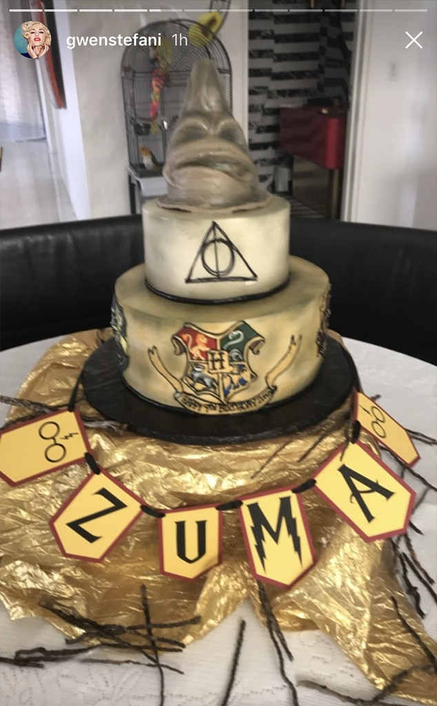 Gwen Stefani Throws Son Zuma A Magical Harry Potter Themed