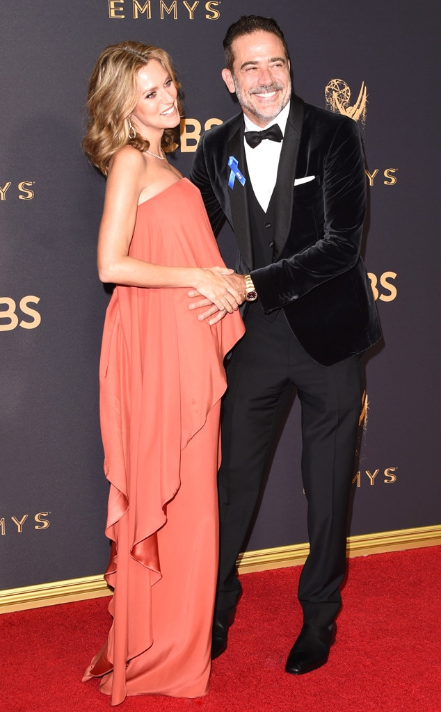 Hilarie Burton, Jeffrey Dean Morgan, 2017 Emmys, Pregnant